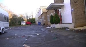 Traveller groups cause substantial damage to a site