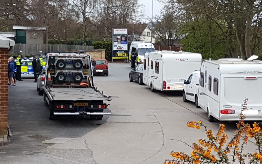 Large traveller camp evicted in Wetherby
